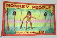 Fred G. Johnson Sideshow Banner - Monkey People