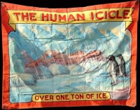 Fred Johnson Sideshow Banner Human Icicle