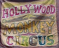 Fred Johnson Sideshow Banner Hollywood Monkey Circus