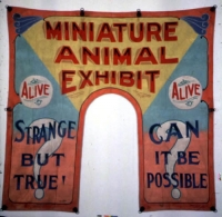 Fred Johnson Sideshow Banner Miniature Animal Exhibit