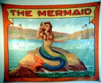 Fred Johnson Sideshow Banner The Mermaid
