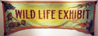 Fred Johnson Sideshow Banner Wild Life Exhibit