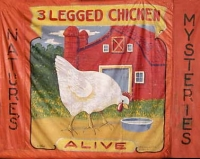 Fred Johnson Sideshow Banner - 3 Legged Chicken