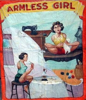 Fred Johnson Sideshow Banner Armless Girl