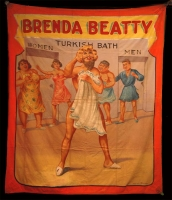 Fred Johnson Sideshow Banner Bearded Lady Brenda Beatty