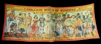 Fred Johnson Sideshow Banner Cavalcade World Of Wonders - Freaks Past And Present