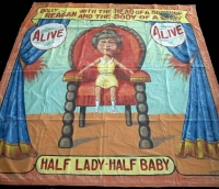 Fred Johnson Sideshow Banner Dolly Reagan