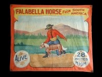 Fred Johnson Sideshow Banner Falabella Horse From South America