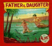 Fred Johnson Sideshow Banner Father and Daughter Lobster Family