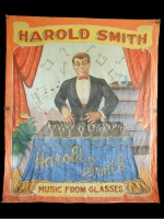 Fred Johnson Sideshow Banner Harold Smith Music From Glasses