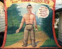 Fred Johnson Sideshow Banner Joe Allen The Human Corkscrew