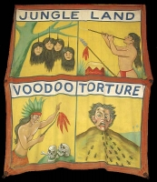 Fred Johnson Sideshow Banner Jungle Land Voodoo Torture
