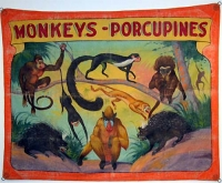 Fred Johnson Sideshow Banner Monkeys - Porcupines
