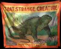 Fred Johnson Sideshow Banner Obby Dobby That Strange Creature