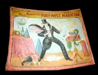 Fred Johnson Sideshow Banner Professor Milo Foremost Magician