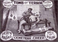 Fred Johnson Sideshow Banner Tomb of Terror