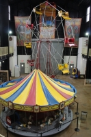 Authentic Antique Ferris Wheel and Merry Go Round set up on the main floor