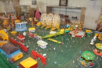 Close up of HO Scale Carnival Model