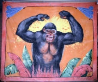 Fred Johnson Sideshow Banner (Untitled) King Kong