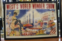 West World Wonder Show Ad Lithograph
