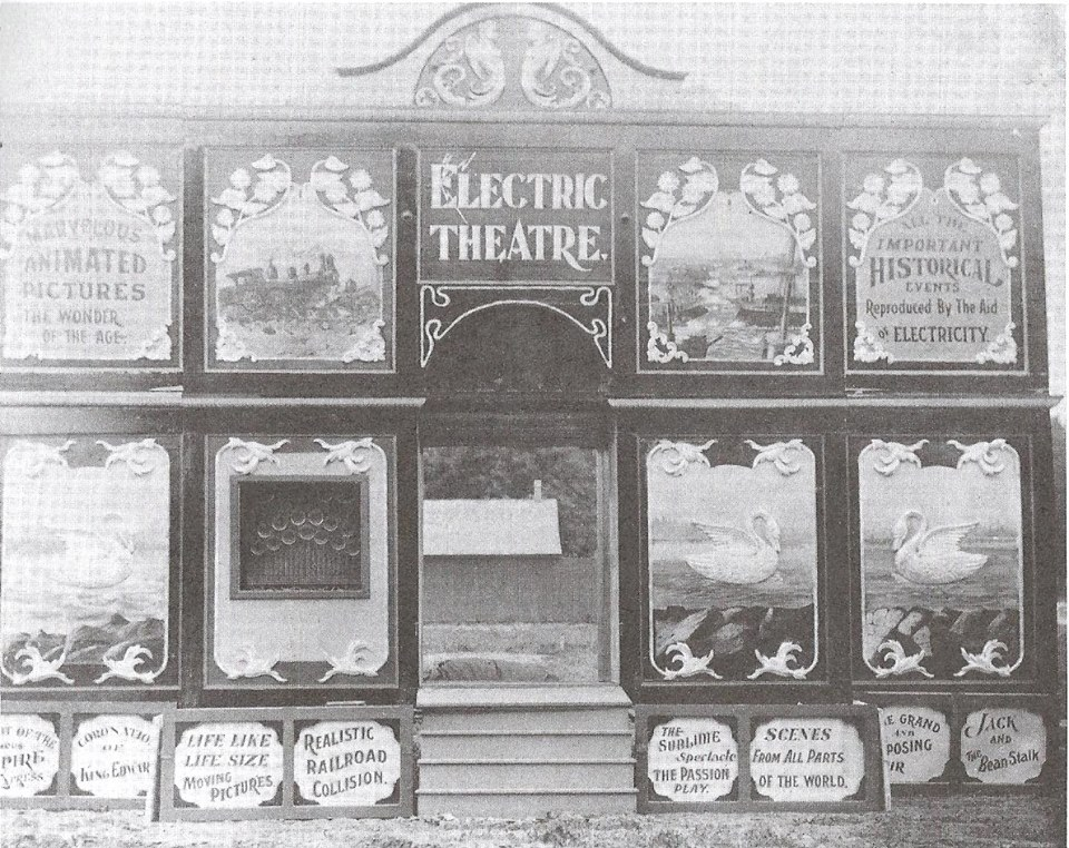"""alt=""""Electric Movie Theater Shows Motion Pictures On The Carnival Midways of The Past"""""""