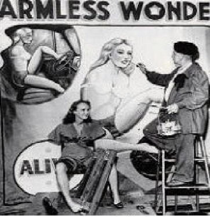"alt=""Sideshow banner painter Bobby Wicks"""