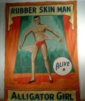 SideShow Banner Snap Wyatt Rubber Skin Man Alligator Girl.JPG