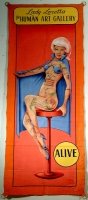 SideShow Banner Johnny Meah Lady Loretta the Human Art Gallery.JPG