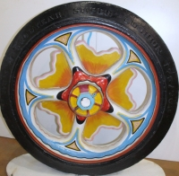 Cast Iron Sunburst Wagon Wheel